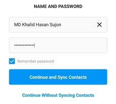 instagram name and password